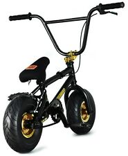 "FatBoy Pro Mini 10"" BMX Bicycle Fat Tire Freestyle Bike Black Hawk Gold NEW 2017"