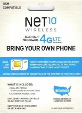 Net10 LTE DualCut SIM - Includes FREE month of $40 plan! No Contract! 8GB DATA