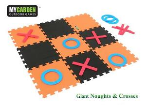 GIANT GARDEN NOUGHTS AND CROSSES INDOORS OUTDOORS EVA FOAM TOY PARTY FAMILY GAME