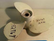 Johnson Evinrude OMC Propeller 382767 14x10 RH 3 Blade Aluminum Old Stock