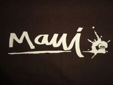 Maui Quicksilver Brown T Shirt Adult M Free US Shipping