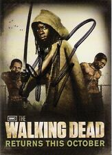 SDCC San Diego Comic Con AMC Walking Dead Michonne Card Signed Robert Kirkman NY