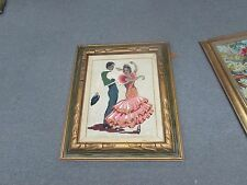"Spanish Flamenco Dancers Needlepoint Hand Made Stitched 22"" x 26"" - 13"" x 17"""