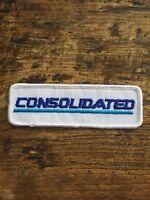 "Vtg Consolidated Sew On Patch Badge Gypsum Calgary Alberta Canada 4.5"" AB"