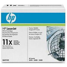 HP GENUINE 11X 2-pack Q6511X High Yield Black Original LaserJet Toner Cartridge