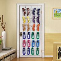 24-Pocket Over The Door Shoe Organizer Rack Hanging Storage Holder Hanger Bag US