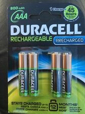 4 Pack Duracell AAA Recargable Precharged 800mah 1,2v