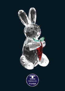 """[SPECIAL OFFER] """"Bunny Eating Carrot"""" Austrian Crystal Figurine was AU$58.00"""