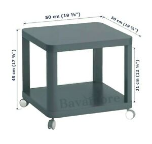 """IKEA TINGBY Side table on casters , turquoise 19 5/8x19 5/8 """" BRAND NEW-"""