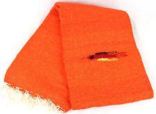 Genuine New Orange Themed Mexican Bird Floor Rug Large Blanket Throw Yoga Mat