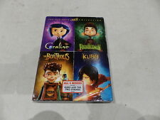 CORALINE/PARANORMAN/THE BOXTROLLS/KUBO AND THE TWO STRINGS 4-MOVIE DVD SET NEW