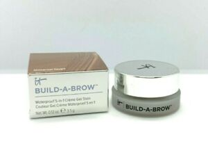 It Cosmetics Build-A-Brow Waterproof 5-In-1 Gel Stain ~ Universal Taupe ~ .12oz