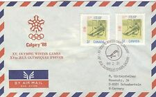 CANADA Olympische Spiele Olympic Games Calgary 1988 Cancel Freestyle Ski 88 2 21