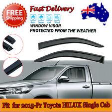 ABS Plastic Rain Guards Weather Vent For Toyota Hilux Single Cab 2015 AU
