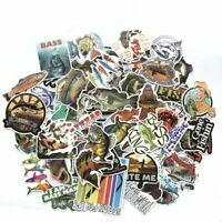 Fishing Sticker Bomb Pack Lot Mixed Fish Bait Laptop Car RV Boat Vinyl Decals