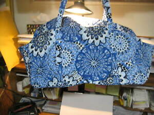 Vera Bradley BLUE star MEDALLION Large Duffel Bag NEW NWT