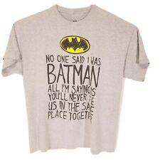 Men's Graphic Tee T-Shirt Batman Shirt Size 2XL DC Comics