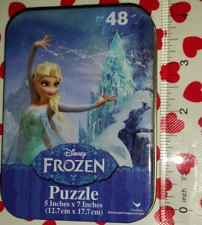NEW Disney FROZEN Elsa Snow Magic with Olaf 48 pc Puzzle in Metal Tin!