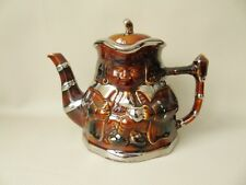 Price & Kensington Treacle Glazed Teapot  With Silver Lustre Highlights