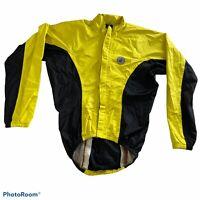 Castelli Cycling Road Bike Men's L Windbreaker Jacket Black /Yellow Lightweight