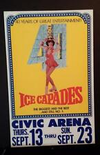 6105-1979 Ice Capades ad sign - 40 years - Civic Arena Pittsburgh