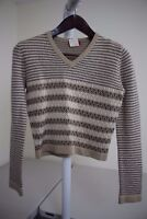 Esprit Acrylic & Wool Blend Multi-Colored Crew-neck Sweater Size - Medium