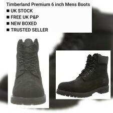 Timberland 6 Inch Classic Premium Mens Wide Black Waterproof Boots🆕️BOXED UK 10