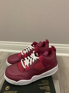 Jordan 4 Retro PS Love Of The Game Little Kids BQ7671-661 Berry Youth Size 13C