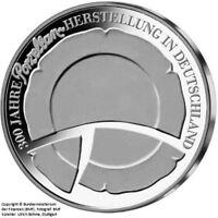 """10 Euro Gedenkmünze """"300 J. Porzellanherstellung Deutschland"""" (Jäger: 553) Stgl."""
