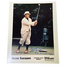 Gene Sarazen Signed 8x10 Photo - Wilson Advisory Staff Member