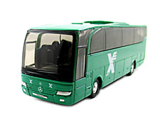 MERCEDES-BENZ TRAVEGO, ISRAELI BUS COMPANY, GREEN WELLY SCALE 1:60 DIECAST MODEL