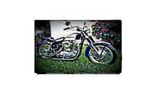 1965 Xl Sportster Bike Motorcycle A4 Photo Poster