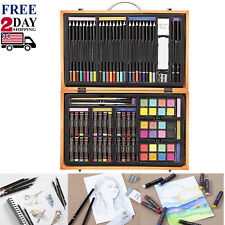 80pc Art Supplies Lot Colored Pencils Professional Drawing Set Sketching Kit