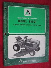 1979 ALLIS CHALMERS 816GT LAWN & GARDEN TRACTOR OPERATORS MANUAL