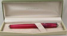 Levenger True Writer Pinkly Pink Transparent Fountain Pen Medium Nib New