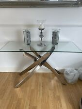 living room Glass And Chrome Side Table