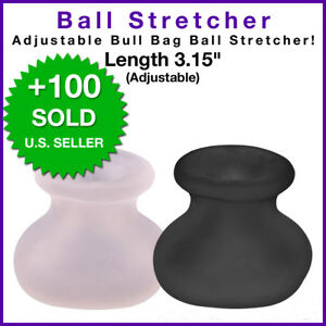 Male Men Ball Balls Scrotum Stretcher Condom Weight Enhancer Silicone Sensation