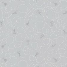 Dear Stella Made With Love by Rae Ritchie SRR 689 Smoke Scissors  Cotton Fabric