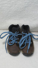 TIMBERLAND PREM WATERPROOF BROWN SUEDE TODDLERS BOOTS Sz 6 BLACK LEATHER 4980R