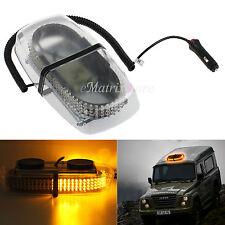 12V 240 LED Amber Car Strobe Light Emergency Flashing Bar Magnetic Beacon Light