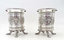 Antique Art Nouveau WMF Silver Plate Pair of Utensil Holders Excellent  (ESTATE)