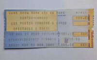 IAN HUNTER MICK RONSON Concert Ticket Stub 11/21/1989 Montreal Glam Rock