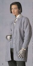 Vintage Women Knitting Pattern Long Line Cardigan Jacket copy 4 ply