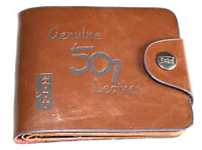 Men's Genuine PU Leather 501 Wallet Cowboy Hasp Money Clips Purse Man. 097