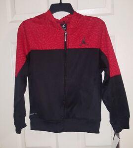 NIKE Jordan Youth Elephant Red/Blk Full Zip Hoodie Jacket Lg 12-13yrs NWT