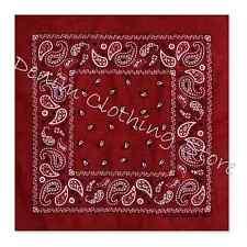 Wholesale Lot 100% Cotton Paisley Print Bandana Head Wrap Scarf Wristband Dozen
