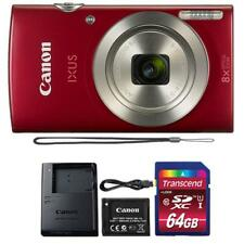 Canon IXUS 185 / ELPH 180 20MP Digital Camera Red and 32GB Memory Card
