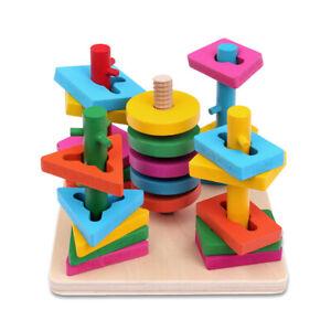 Schramm® Kinder Holz Steckplatte Steckspiel Geschicklichkeitsspiel 21- teilig fü