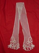 """Antique White Lace Netting Scarf Applique 60"""" Long x 4"""" Wide (Lot#5) C7"""
