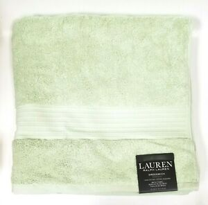 RALPH LAUREN GREENWICH PALE GREEN, SAGE 100% COTTON BATH TOWEL